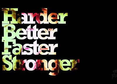 music, Daft Punk, Harder Better Faster Stronger - random desktop wallpaper