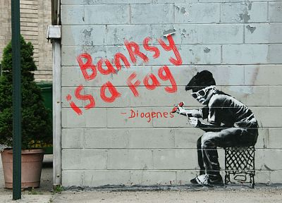 quotes, graffiti, Banksy - related desktop wallpaper