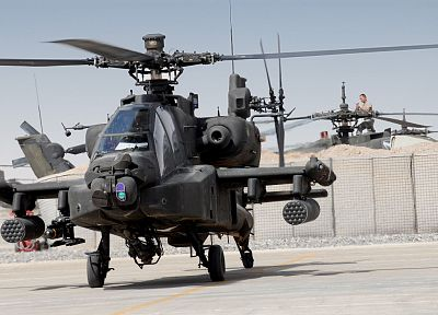 aircraft, military, helicopters, vehicles, AH-64 Apache - random desktop wallpaper