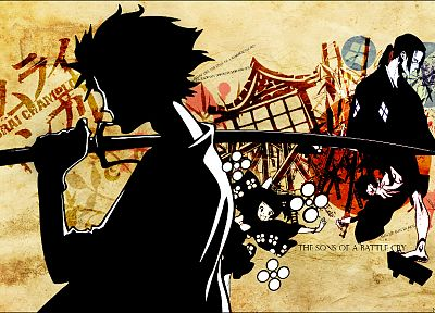 Samurai Champloo, katana, samurai, Jin, Mugen, anime, anime boys, Japanese clothes - desktop wallpaper