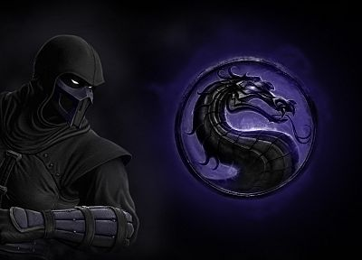 video games, Mortal Kombat, Noob Saibot, Mortal Kombat logo - related desktop wallpaper