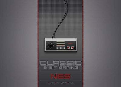 Nintendo, video games, nes game console, oldschool, gamepad, controllers - random desktop wallpaper