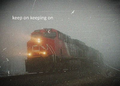 trains, fog, railroad tracks, vehicles, locomotives - desktop wallpaper