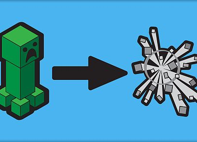 video games, creeper, Minecraft - desktop wallpaper