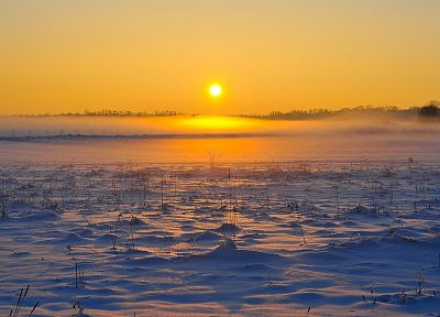 ice, sunrise, landscapes, nature, snow landscapes - related desktop wallpaper