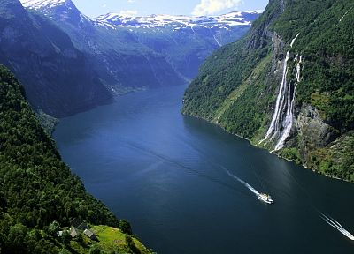 landscapes, nature, Norway, Geiranger Fjord - related desktop wallpaper