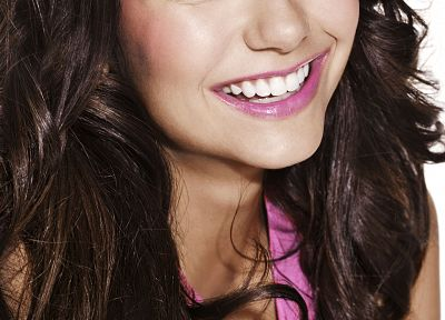 women, actress, celebrity, Nina Dobrev, smiling, faces - random desktop wallpaper