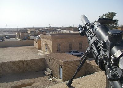 scope, guns, army, military, weapons, sniper rifles, rooftops, SPR, bipod - related desktop wallpaper
