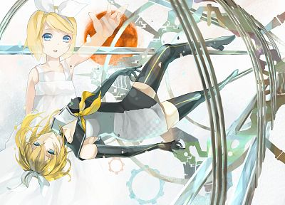 Vocaloid, Kagamine Rin, Roshin Yuukai (Meltdown), bare shoulders - random desktop wallpaper