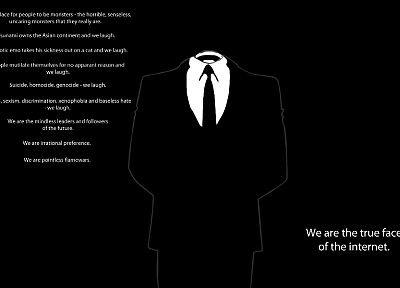 Anonymous, Internet, suit - random desktop wallpaper