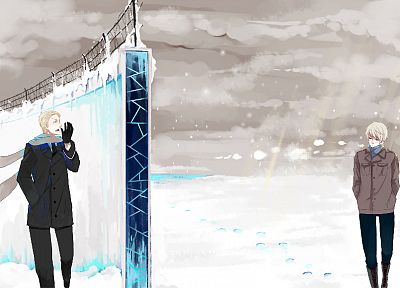winter, snow, Germany, anime, Prussia, Axis Powers Hetalia, Berlin Wall - related desktop wallpaper