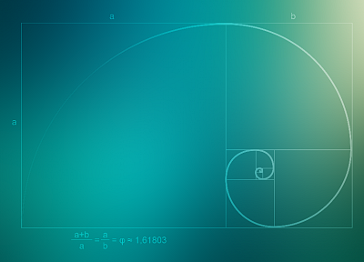 spiral, golden ratio, mathematics - desktop wallpaper
