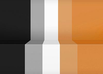 black, minimalistic, white, orange, retro, stripes - random desktop wallpaper