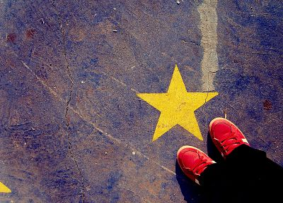floor, stars, shoes, hipster, sneakers, indie - desktop wallpaper