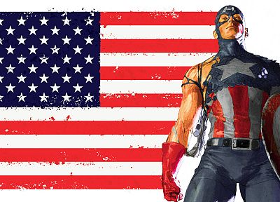 Captain America, American Flag - random desktop wallpaper