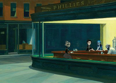 parody, Nighthawks At The Diner - random desktop wallpaper
