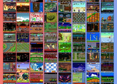 video games, screenshots, sega genesis, Super Nintendo - desktop wallpaper