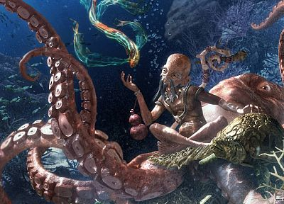 octopuses, fantasy art - random desktop wallpaper