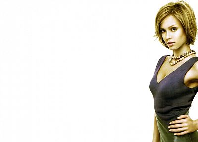 blondes, women, Jessica Alba, actress, models, white background - related desktop wallpaper