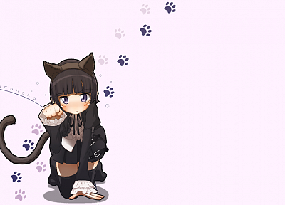 nekomimi, animal ears, Gokou Ruri, Ore No Imouto Ga Konna Ni Kawaii Wake Ga Nai, simple background - desktop wallpaper