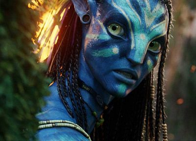 movies, Avatar, Neytiri, Zoe Saldana - related desktop wallpaper