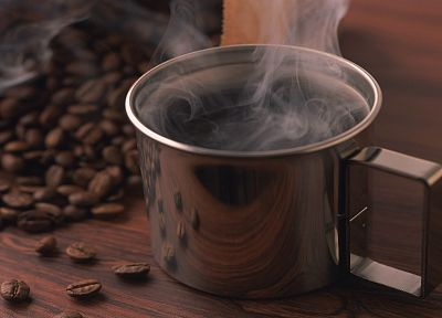steam, coffee, mugs - desktop wallpaper