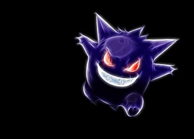 Pokemon, Gengar, black background - desktop wallpaper
