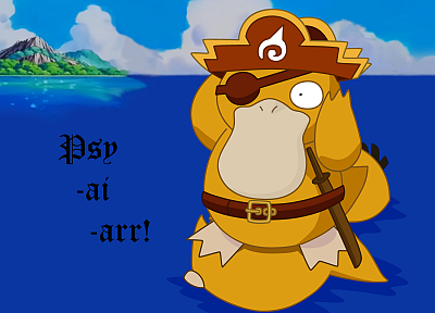 Pokemon, pirates, Psyduck - desktop wallpaper
