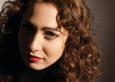 brunettes, women, blue eyes, Regina Spektor, singers, curly hair - desktop wallpaper