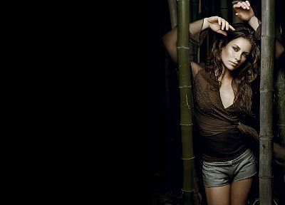 women, actress, Evangeline Lilly, bamboo, Lost (TV Series) - random desktop wallpaper