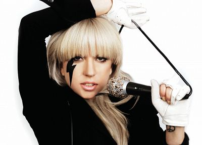 women, music, Lady Gaga, singers, white background - related desktop wallpaper
