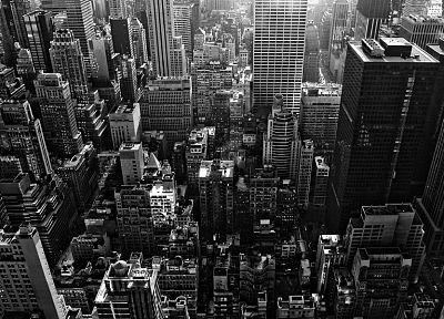 landscapes, cityscapes, buildings, grayscale, cities - desktop wallpaper