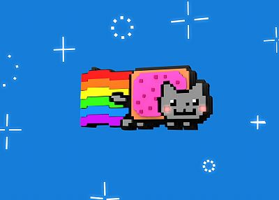 outer space, cats, rainbows, Nyan Cat, Pop-Tarts - related desktop wallpaper