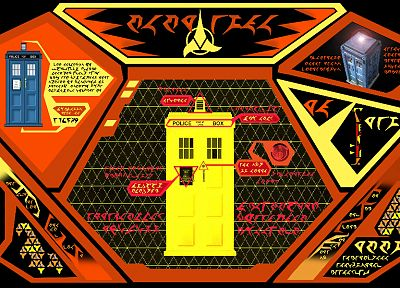 Star Trek, TARDIS, Klingons, Doctor Who, crossovers - desktop wallpaper