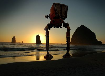 Star Wars, beaches - desktop wallpaper
