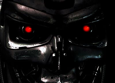 science, eyes, Terminator, fiction, robot, movies, metal - related desktop wallpaper