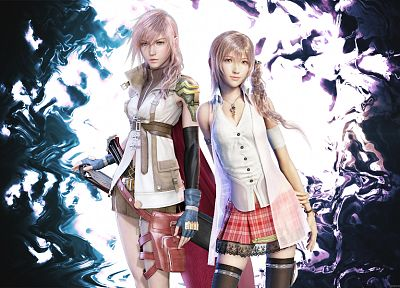 Final Fantasy, video games, Final Fantasy XIII, Serah Farron, Claire Farron - related desktop wallpaper