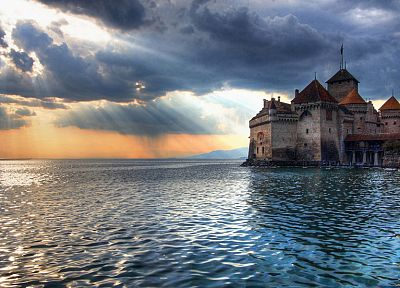 landscapes, castles, houses, sea - desktop wallpaper