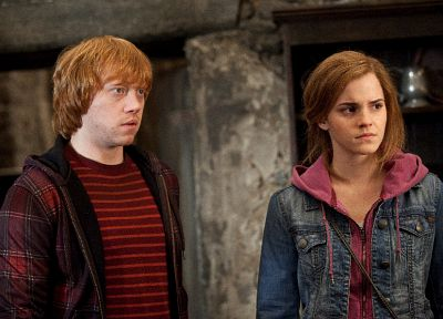 fantasy, Emma Watson, movies, film, Harry Potter, Harry Potter and the Deathly Hallows, Rupert Grint, Hermione Granger, Ron Weasley - related desktop wallpaper
