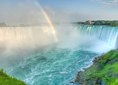 landscapes, rainbows, waterfalls - desktop wallpaper