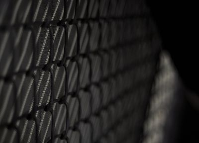 grayscale, monochrome, chain link fence - random desktop wallpaper