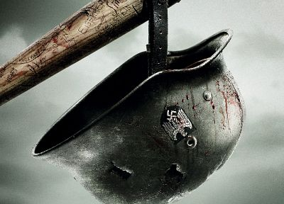 movies, Inglorious Basterds, helmets, baseball bats - random desktop wallpaper