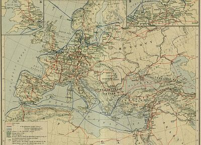 Europe, maps, medieval, cartography - random desktop wallpaper