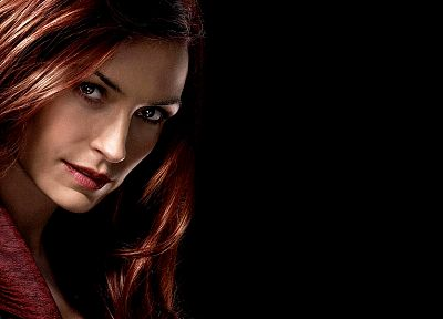 X-Men, Famke Janssen, black background, X-Men: The Last Stand, Dark Phoenix - random desktop wallpaper