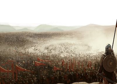 soldiers, war, fantasy art, Kingdom of Heaven, battles - desktop wallpaper