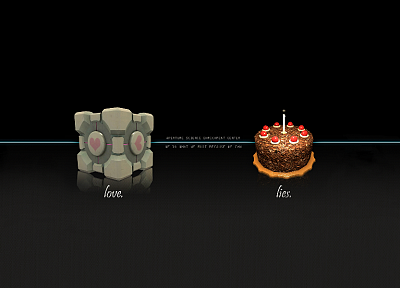 Portal, Companion Cube, Aperture Laboratories, cakes - related desktop wallpaper