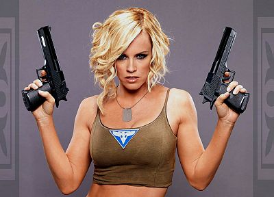 women, Red Alert, Jenny Mccarthy, girls with guns, Red Alert 3 - related desktop wallpaper