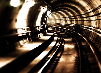 architecture, buildings, tunnels, railroad tracks - random desktop wallpaper