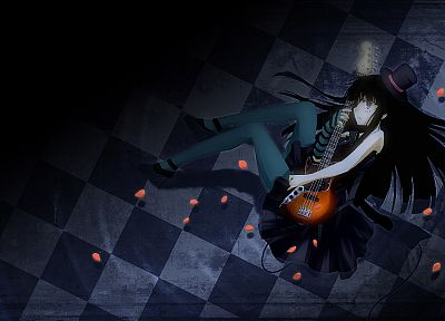 K-ON!, guitars, Akiyama Mio, anime girls - related desktop wallpaper