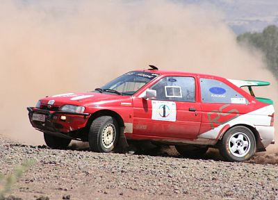 cars, dust, rally, vehicles, racing, red cars, Ford Escort, races, rally cars, gravel, racing cars, rally car - desktop wallpaper